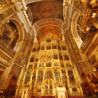 Golden church interior — Stock Photo