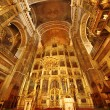 Stock Photo: Golden church interior