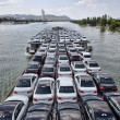 New cars on boat — Stock Photo #13350173