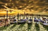 Pôr do sol em Veneza — Fotografia Stock
