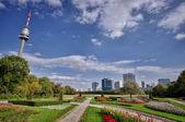 Danube park — Stock Photo