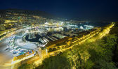 Monte Carlo port night scene — Stock Photo