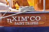 Saint Tropez boat — Stock Photo