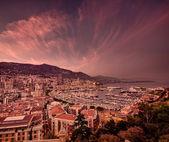 Monaco günbatımı bulutlar — Stok fotoğraf
