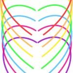Hearts of rainbow — Stock Vector #13897438