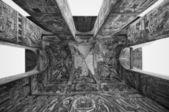 Romanian monastery detail — Stock Photo