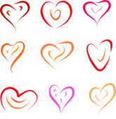 Heart set — Stock Vector