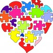 Abstract puzzle heart — Stok Vektör #15438447