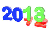 2013 happy new year glossy — Stock Photo