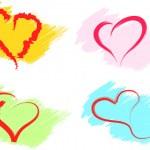 Hearts set vector — Stock Vector #15765335