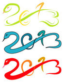 2013 new year, snake sketch vector illustration — Stock Vector