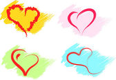 Hearts set vector — Vettoriale Stock