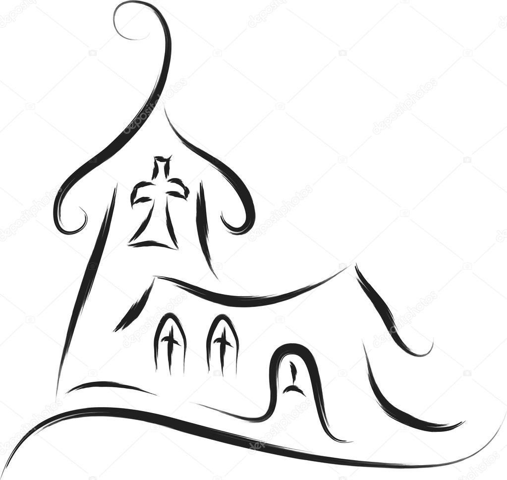 Church abstract sketch drawing style  — Stok Vektör #16164967