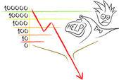 Business failure — Stock Vector