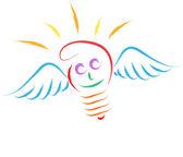 Lampadina angelo — Vettoriale Stock