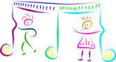 Dzieci muzyki — Wektor stockowy