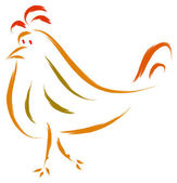 Chicken sketch — Vector de stock