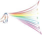 Verniciatura arcobaleno — Vettoriale Stock