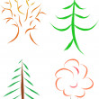 Royalty-Free Stock Vektorfiler: Tree set