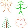 Royalty-Free Stock : Tree set
