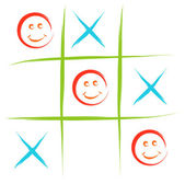 Smiley tic tac toe — Stock Vector