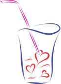 Love drink — Stock Vector