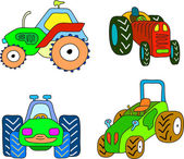 Tractor set — Stock Vector