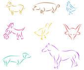 Animals sketch — Stock Vector