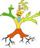 Doodle tree man — Stock Vector