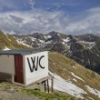 Stock Photo: Toilette on mountain