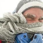 Man in winter storm — Stock Photo #31674989