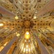 SagradFamilicathedral interior, BarcelonSpain — Stock Photo #33403335