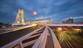 Night city traffic — Stock Photo