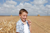 Portrait of a boy in rural — Stock Photo