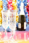 Celebratory glasses of champagne to the Christmas — Stockfoto