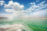 Dead Sea landscape on a day — Stock Photo