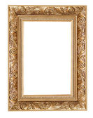 Carved frame isolated — Stock Photo