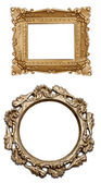 Set a carved frame isolated — Stock Photo