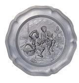 Тарелка с барельефом детей — Стоковое фото