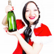Drink champagne at Christmas and the new year — Stock Photo
