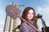 Mädchen aus dem Beruf-builder — Stockfoto
