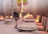 Mesa de huéspedes en el restaurante — Foto de Stock