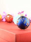 Christmas colorful toys — Stock Photo