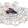 Weapons and money and drugs — Stock Photo