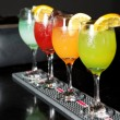 Colorful cocktails - Stock Photo