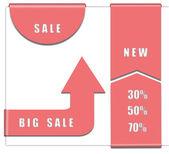 Marcadores de venda para web — Fotografia Stock