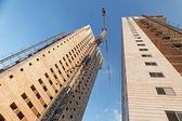 Costruzione di grattacieli — Foto Stock