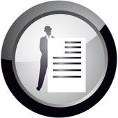 Icona in stile per mantenere la documentazione — Vettoriale Stock