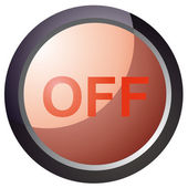 Vector button turn red — Stock Vector