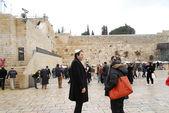 Les anciens remparts de vues de jérusalem — Photo